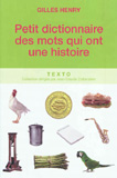 waptrick.com Petit Dictionnaire Des Mots Qui Ont Une Histoire