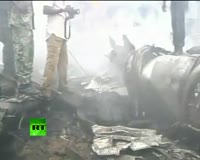 waptrick.one Nigeria Plane Crash - Video of Wreckage Ruins in Lagos