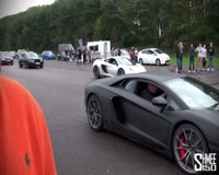 waptrick.one Drag Race - McLaren 12C vs Lamborghini Aventador at Vmax Quicksilver