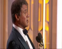 Sylvester Stallone Wins Best Supporting Actor at the 2016 Golden Globes