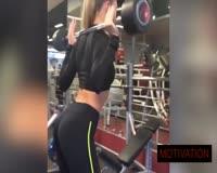 waptrick.com Beautiful Fitness Girl Rida Kashipova Training