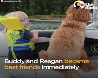 waptrick.com Little Boy And His Dog Became BFFs The Second They Met