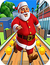 Subway Santa Xmas Surf