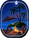 waptrick.one Tropical Beach at Night Live Wallpaper