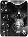 waptrick.one Black Death Skull Keyboard Theme
