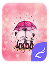 waptrick.one Pink Love Bear Theme