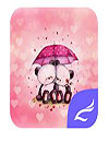 waptrick.one Pink Love Bear CM Launcher