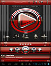 waptrick.one Poweramp Skin Red Glas Deluxe