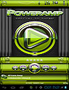 waptrick.one Poweramp Skin Lime Glas Deluxe