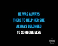 She Will Be Loved Karaoke Klip ng Video