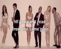 Blurred Lines Only Lyrics Video Clip