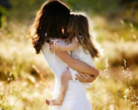 Mother and Daughter s Love Abstract