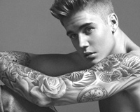 Justin Bieber With Tattoo