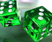 3D Green Ludo Ball
