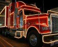 Cola Truck Lights Red Peterbilt