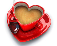 A Heart Cup Of Coffee