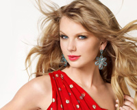 Taylor Swift With Red Dress