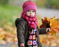 Sweet Baby With Autumn