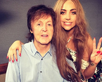 Lady Gaga With Paul McCartney