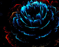 3D Flower Blue Petals Abstract