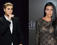 Justin Bieber With Kourtney Kardashian
