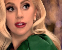 Beautiful Lady Gaga With Green Dress