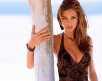 adriana lima on the beach