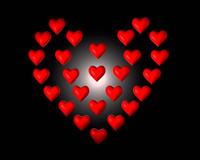 قلب قرمز با عشق