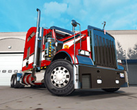 Skin Red On The Truck Kenworth