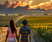 Love Coutry Road Couple