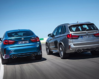 BMW X5 M and BMW X6 M on Road