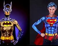 Batman vs Superman Body Paint Cosplay