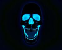3D Skull Blue