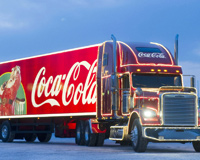 Red Coca Cola Christmas Truck