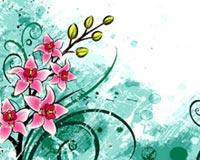 цвете чертеж