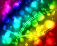 farebné bubliny tečúcou