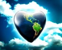 tokë në zemër blu