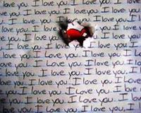 I love you writing