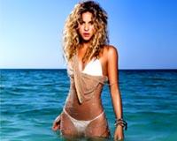 Shakira wears sexy white bikini