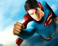 Superman flys