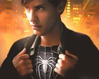 Spiderman super logo shot