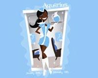 Aquarius Zodiac Girl