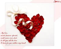 Love Hearts Flower Petals