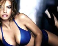 Adriana Lima With Saxon Blue Underwear