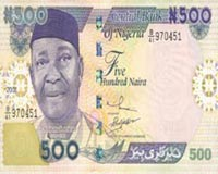 Nigeria Currency 500 Naira Note