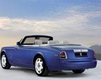 Blue Rolls Royce Phantom Drophead Coupe