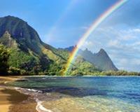 Beautiful Sea And Rainbow