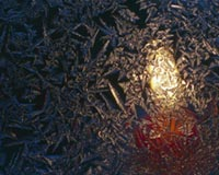 Candlelight Through Frosted Pattern