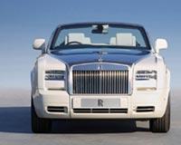 White Rolls Royce Phantom Drophead Coupe Series