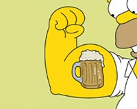 Homer With Beer